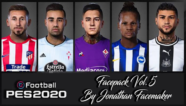 PES 2020 New Facepack V5.0 by Jonathan facemaker