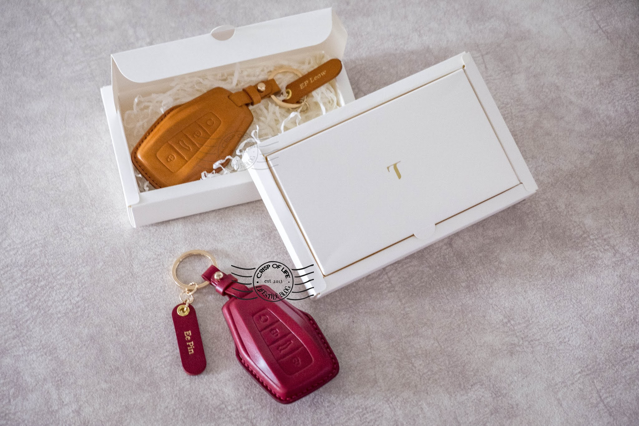 Customized Leather Car Key Sleeve from TYDE