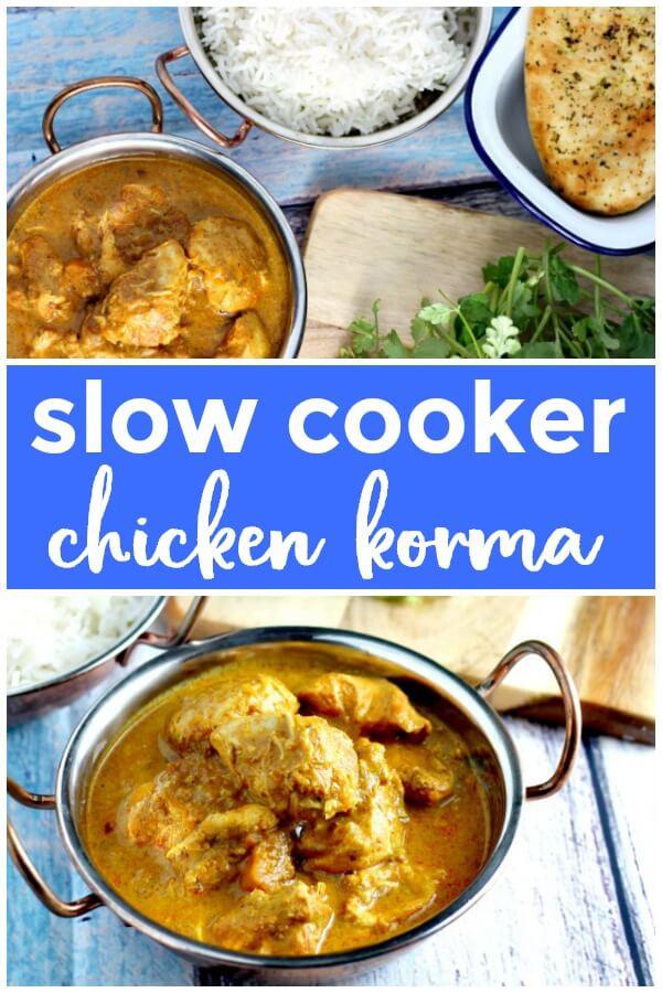 Slow Cooker Chicken Korma Pin