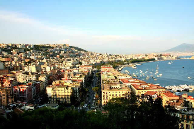 mare, acqua, cielo, porto, barche, Napoli, palazzi, città, strade, panorama, macchine, alberi
