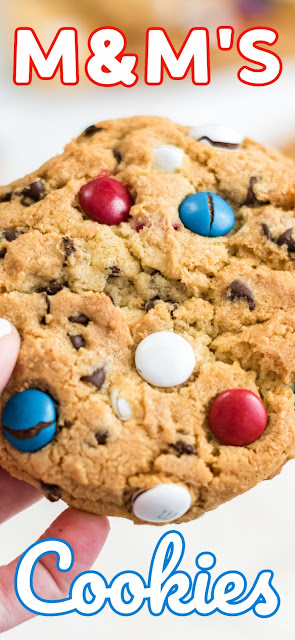 giant red white and blue cookie