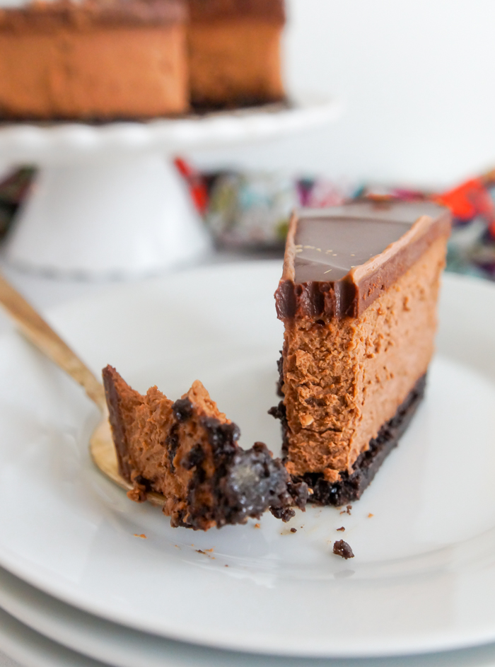 chocolate coffee cheesecake for Valentine's Day