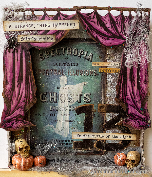 Layers of ink - Halloween Shadow Box Tutorial by Anna-Karin Evaldsson.