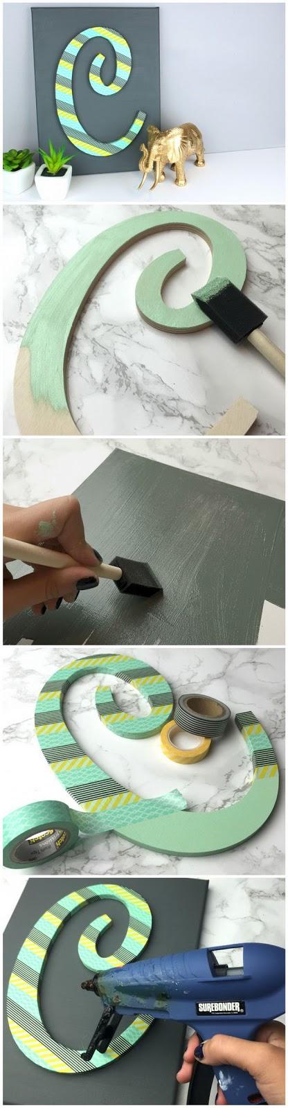 As fitas decorativas literalmente tomaram o mundo do artesanato. Como este tutorial de Alfabeto Listrado mostra, elas deixam o trabalho mais fácil de fazer, levando poucos minutos!