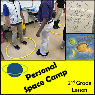 Lesson plan for Personal Space Camp student activity photo and book cover