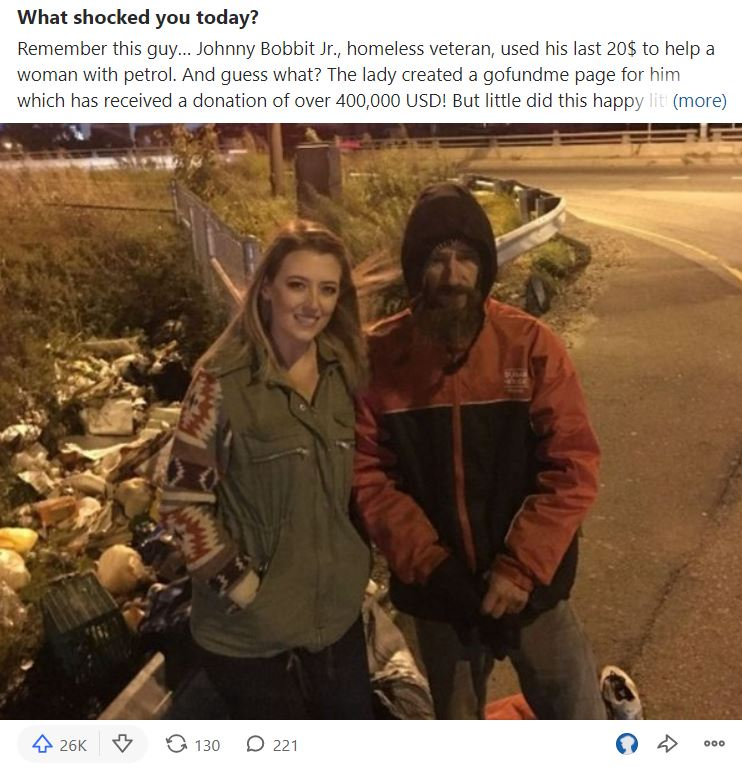 most upvoted picture of homeless people on Quora