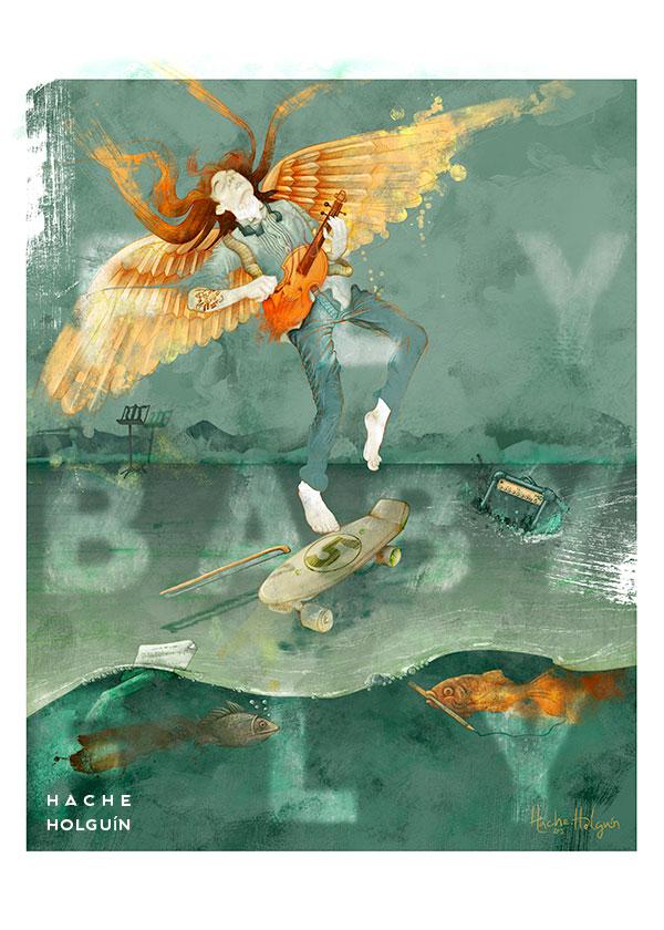 Ilustración para poster, Fly baby Fly