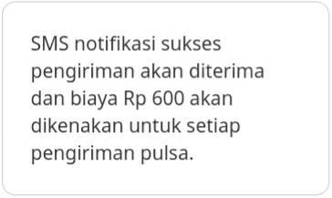 Transfer Pulsa Indosat via SMS 3