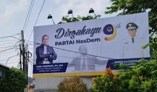 Foto Anies Ada Di Baliho HUT Nasdem, Bakal Diusung Pilpres 2024?
