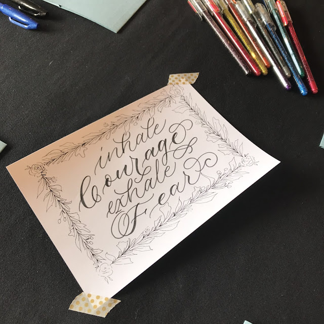 Christmas crafting at the Viking Arty Party Calligraphy Christmas card