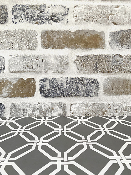 brick pattern and placemat
