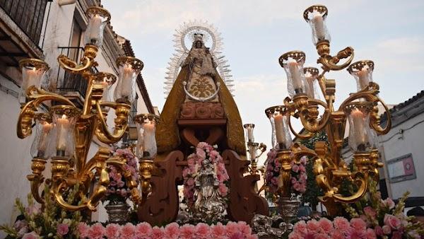 Horario e Itinerario de la Salida Procesional de Nuestra Señora del Rosario de la Yedra. Jerez de la Frontera 12 de Octubre del 2021