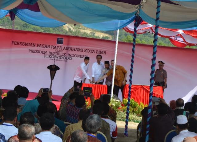 Presiden Jokowi Puji Keindahan dan Kebersihan Kota Bima