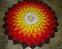onam pookalam designs pictures