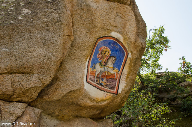 St. George, icon on rock in village Zovik