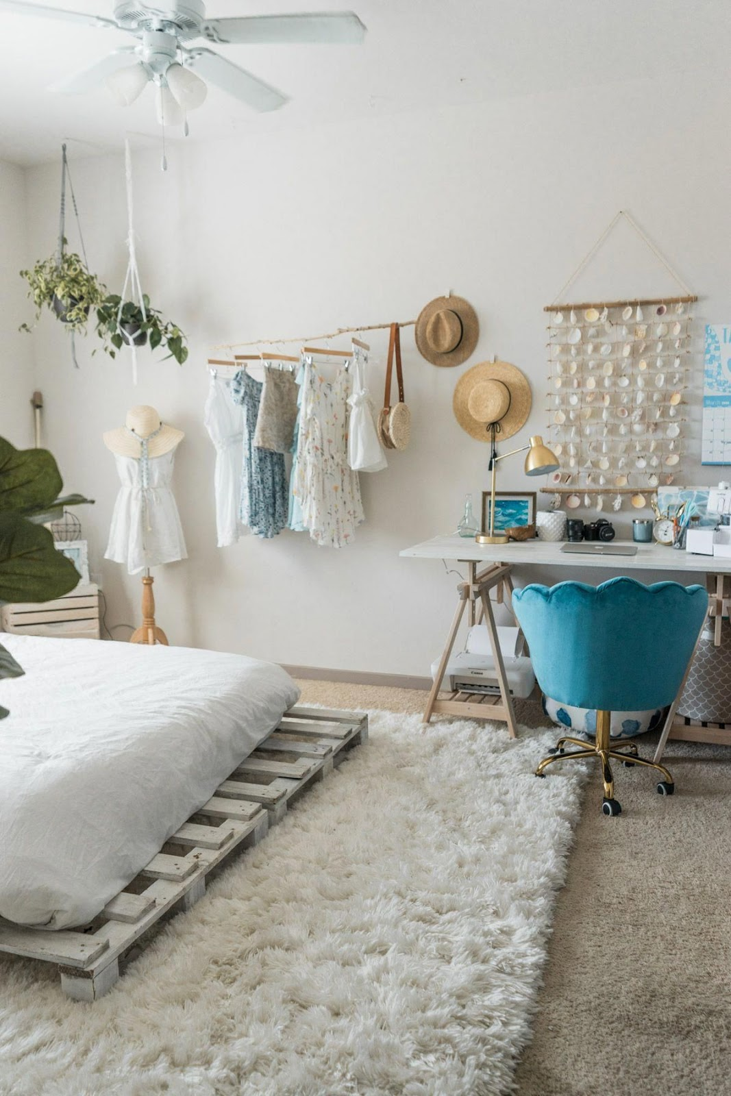 Beachy Boho Bedroom & Office