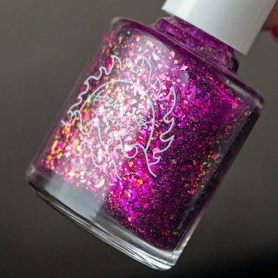 Great Lakes Lacquer Can We Not Right Now? Purple nail polish in a bottle.