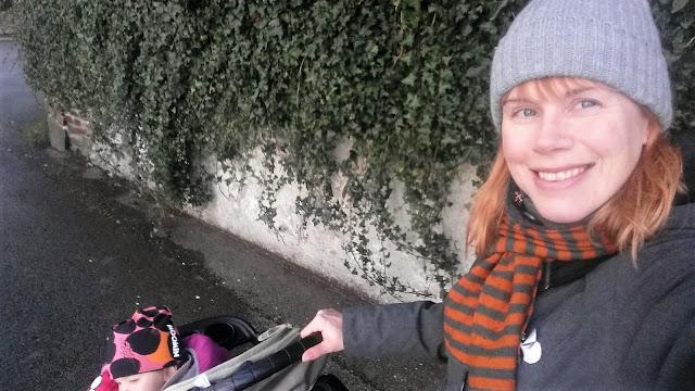 raitakaulaliina,harmaa pipo, baby jogger city mini
