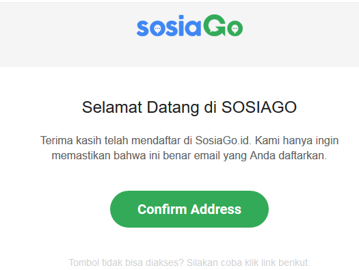 konfirmasi Coba SOSIAGO Influencer Marketing