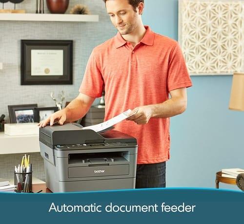 Review Brother DCPL2550DW Monochrome Laser Printer