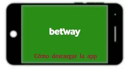 móvil con betway en pantalla