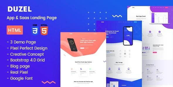 App & Saas Landing Page HTML Template