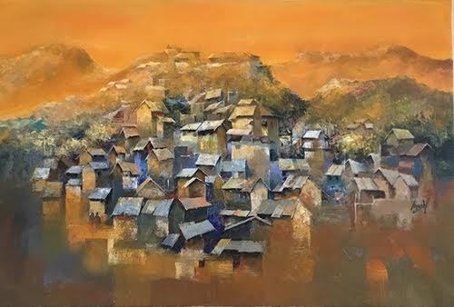 """21st Jan. – 1st Feb. 2019 Pradarshak presents ""Dwellings"" acrylic on canvas paintings by Ayushi Jain"""