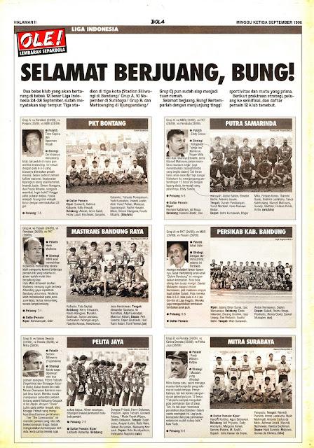 LIGA INDONESIA: SELAMAT BERJUANG, BUNG!