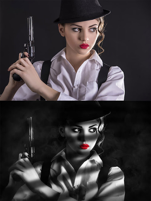 Film Noir Style - Tutorial Photoshop
