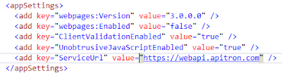 Pic. 1 Configuring client app