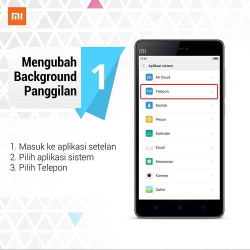 Cara Mengubah Background Panggilan Android Xiaomi