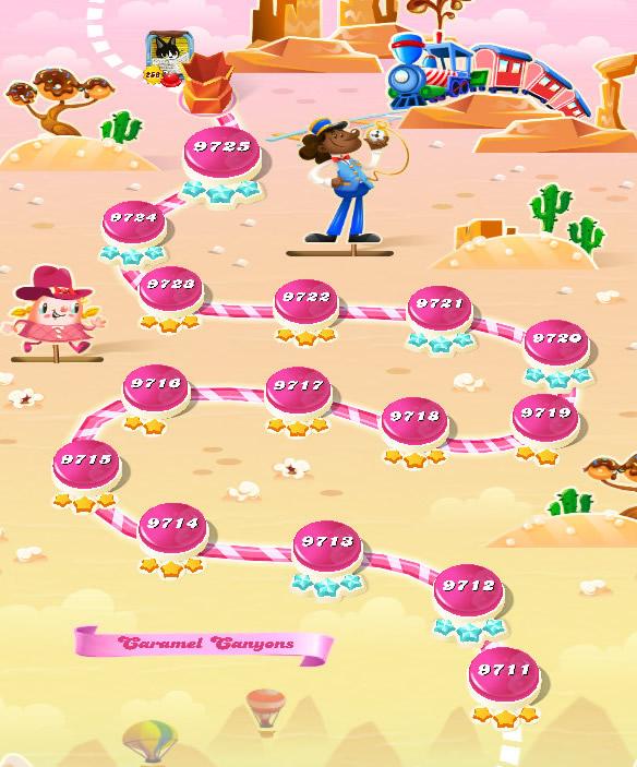 Candy Crush Saga level 9711-9725