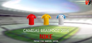 Camisas Seleções Pacote Nike - Brasfoot 2016