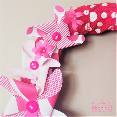 pink pinwheel wreath