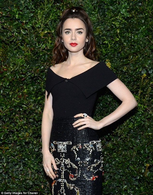 Lily Collins goes glamorous at the Charles Finch and Chanel pre-Oscars bash