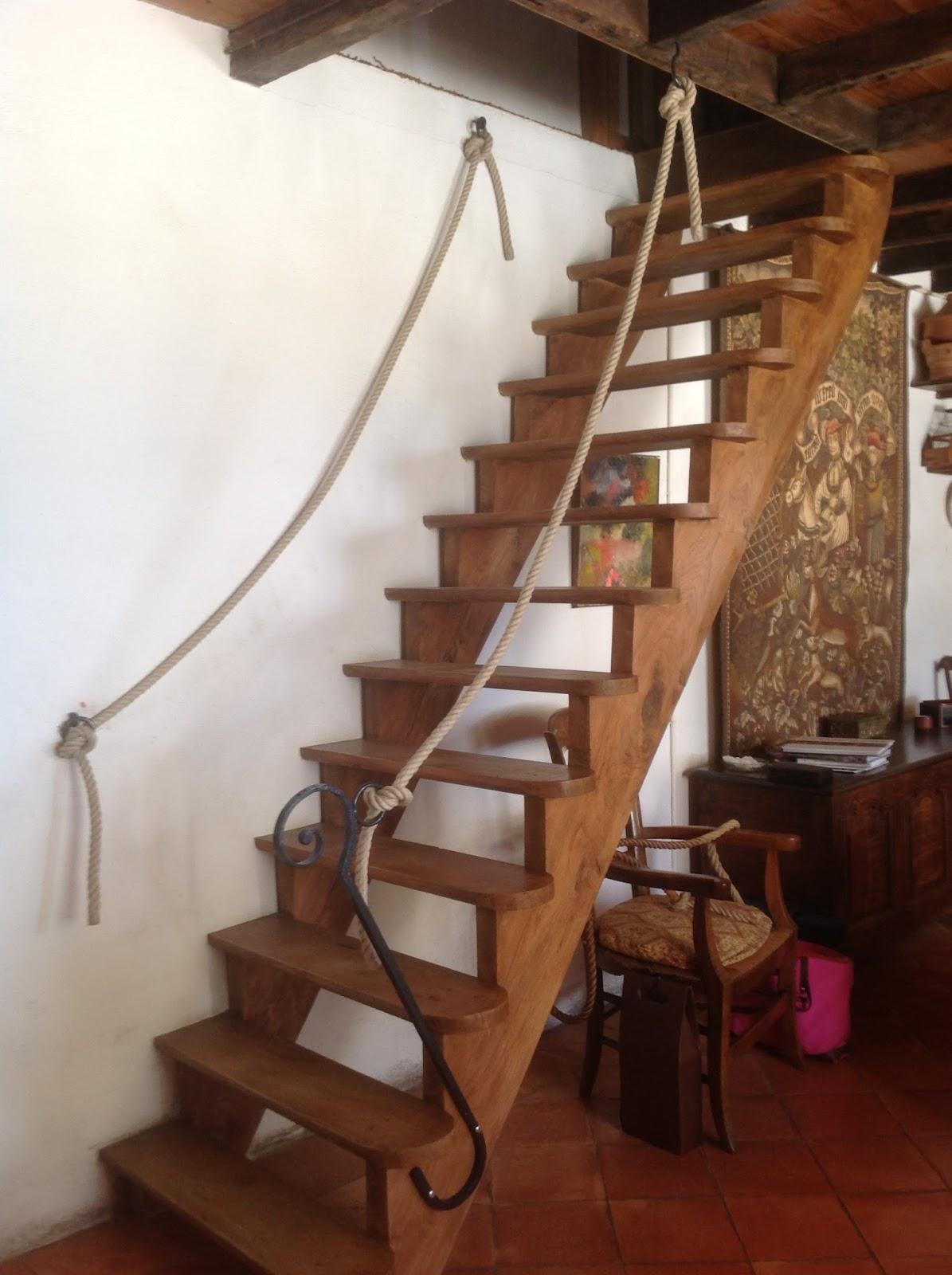 Main Courante Escalier Corde photos cordages : main courante en corde chanvre 20mm