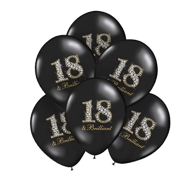 Czarne balony na 18 w stylu glamour