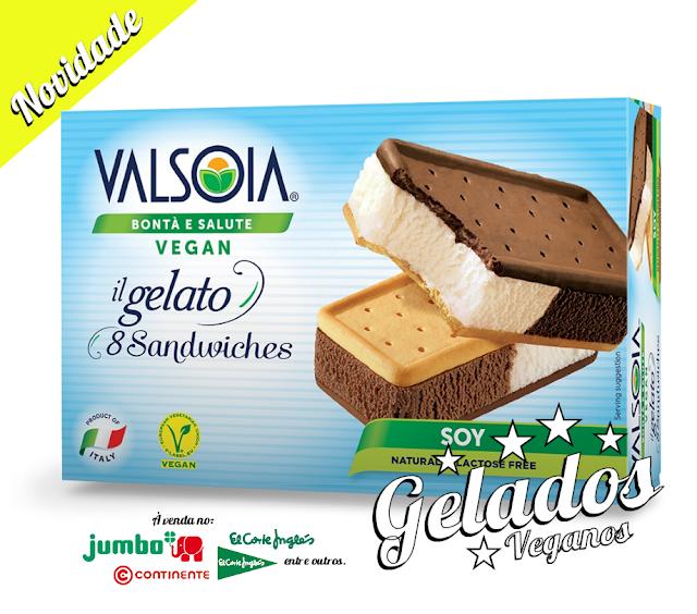 NOVOS GELADOS VEGAN VALSOIA EM PORTUGAL - 8 SANDWICHES 320GR