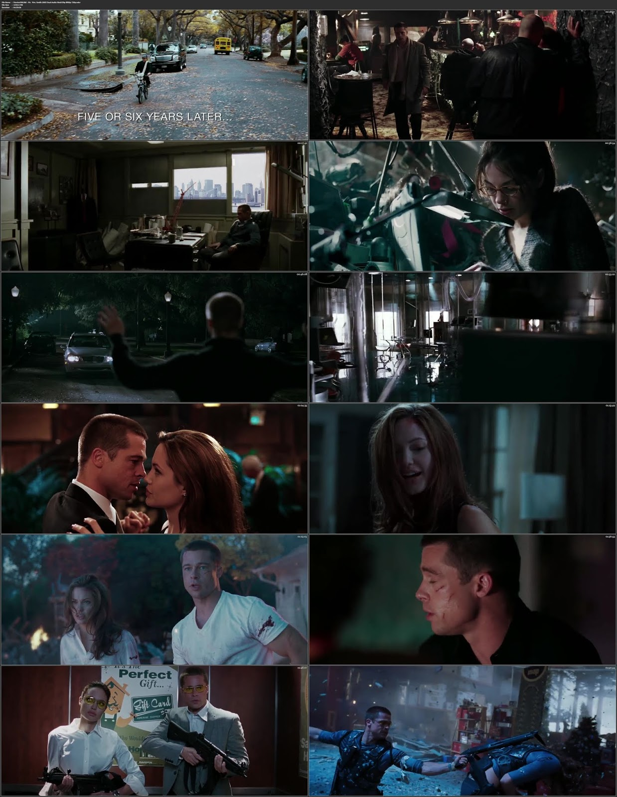 Mr. & Mrs. Smith 2005 Hindi Dubbed 300MB BluRay 480p
