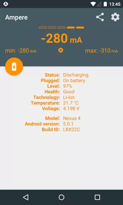 application batterie android