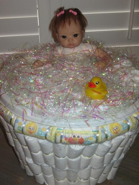 artsy fartsy baby shower diaper gift. Black Bedroom Furniture Sets. Home Design Ideas