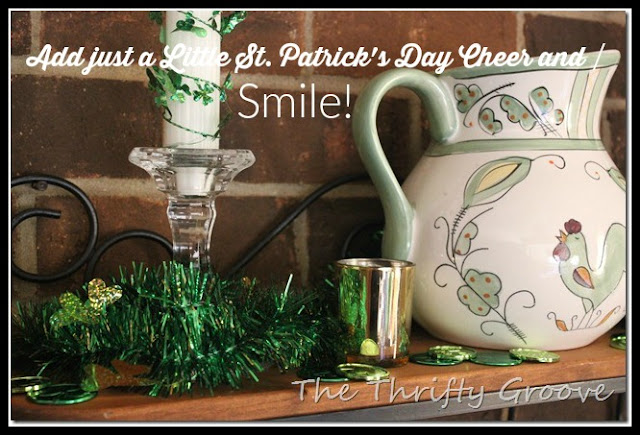 Add a little fun and thrifty st patricks day decor to your home at thethriftygroove.com