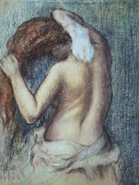 Эдгар Дега - Обтирающаяся женщина (ок.1895)