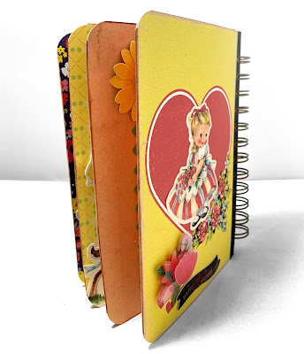KB and Friends' Retro Valentine's Day Mini Album Back Cover