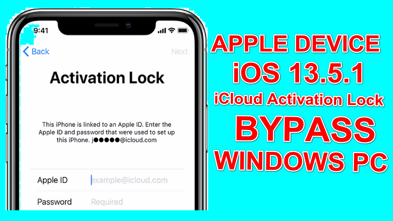 iOS1.1.1 iCloud Bypass Apple Device One Click Tool On Windows Pc