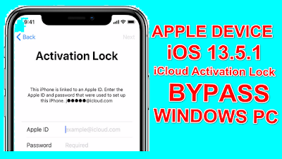 iOS13.5.1 iCloud Bypass Apple Device One Click Tool On Windows Pc.