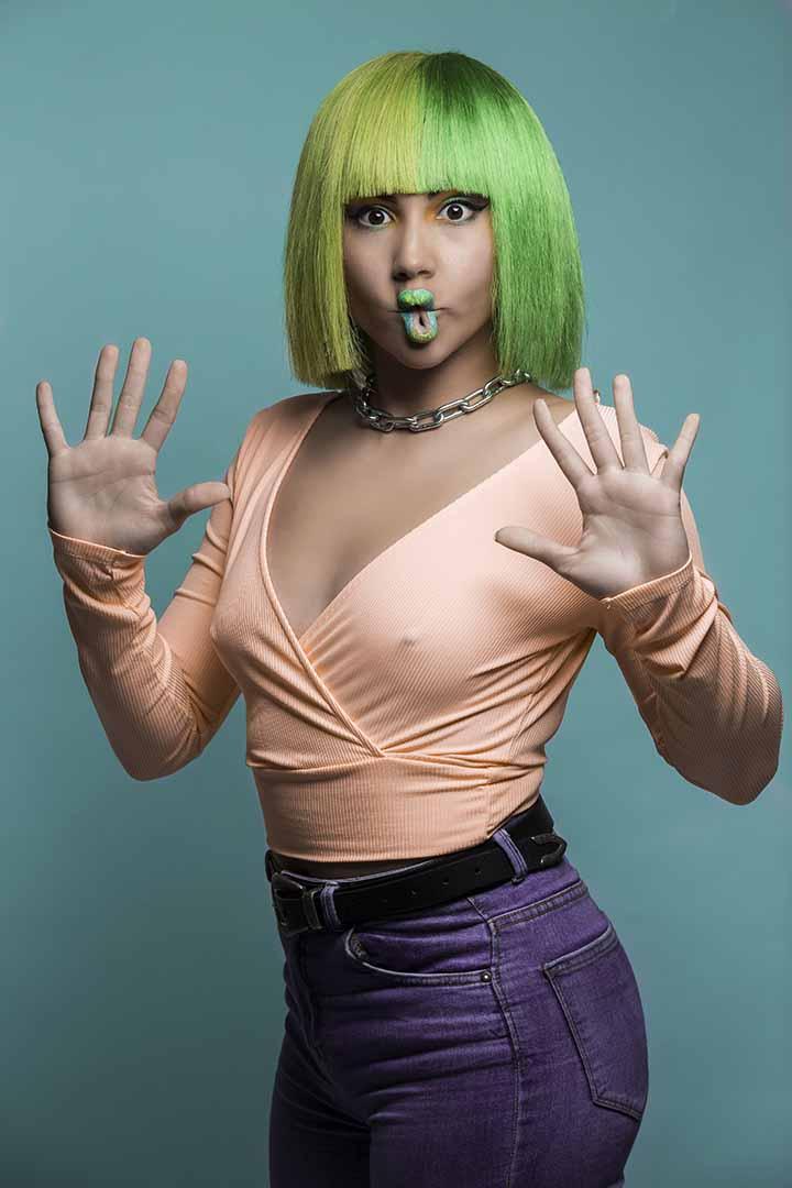color de pelo verde amarillo 2020