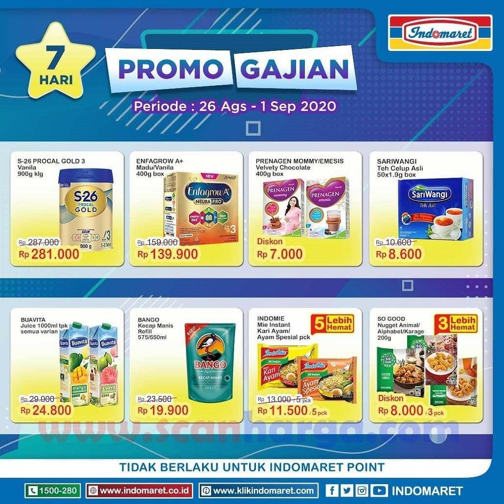 INDOMARET Promo GAJIAN Periode 26 Agustus - 1 September 2020 1