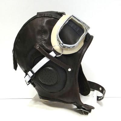 Летный шлем для мальчика 4-5 лет, натуральная кожа.  Подкладка на выбор: синтепон или натуральная овчина. Ручная работа на заказ. Доставка из Твери по миру. Курьер и почта