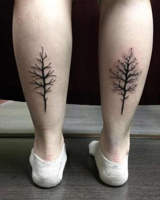 Tatuagens de árvores para as meninas